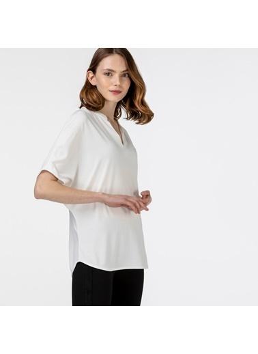 Lacoste Kadın Loose Fit Tişört TF0122.22B Beyaz